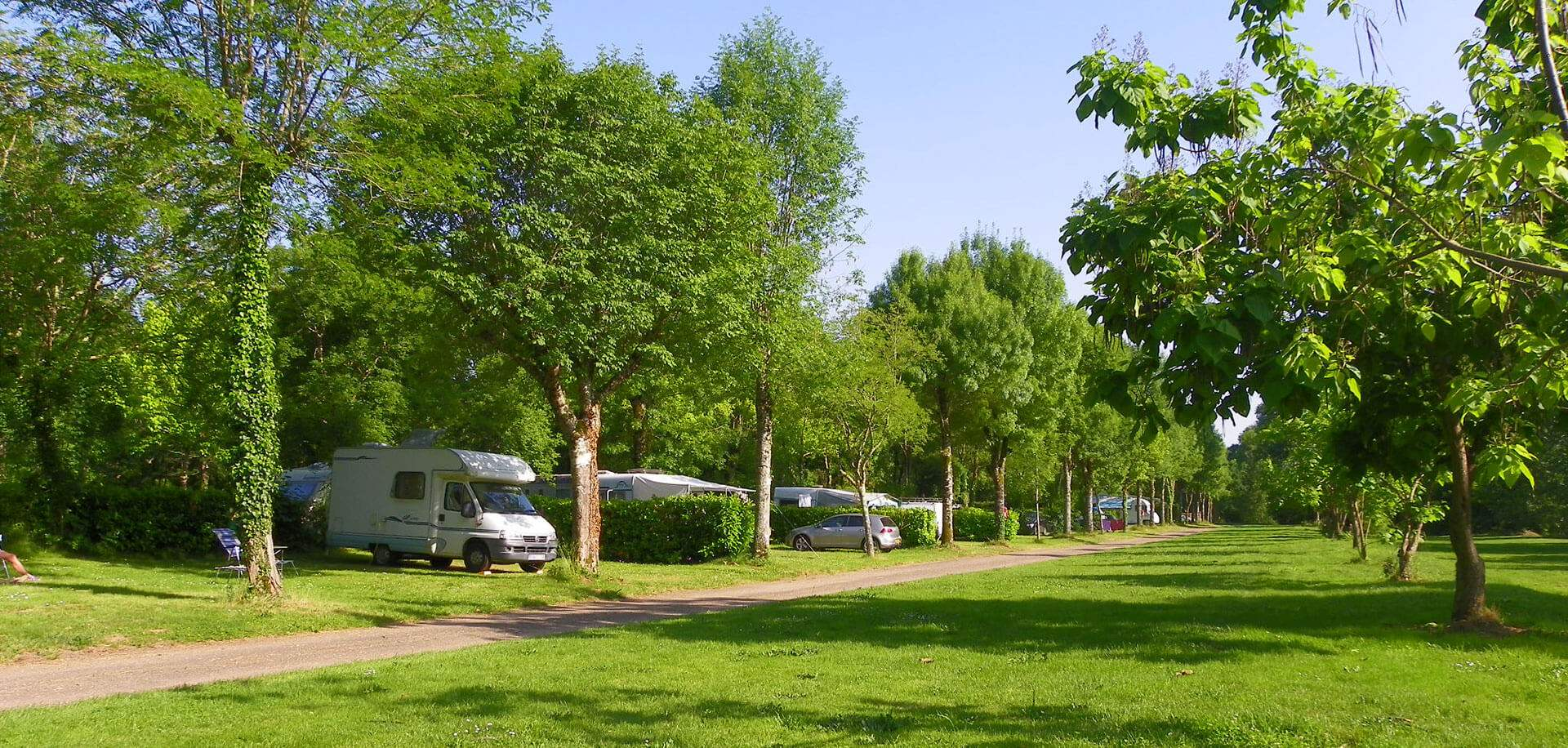 Pitches for motorhome campers in the Dordogne